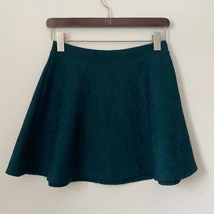 3/$25 Forever 21 Green Floral Mini A-line Skirt